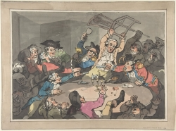 thomas rowlandson kick up at the hazard table 1787